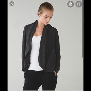 Lululemon To & Flo Wrap Sweater Dark Gray size M